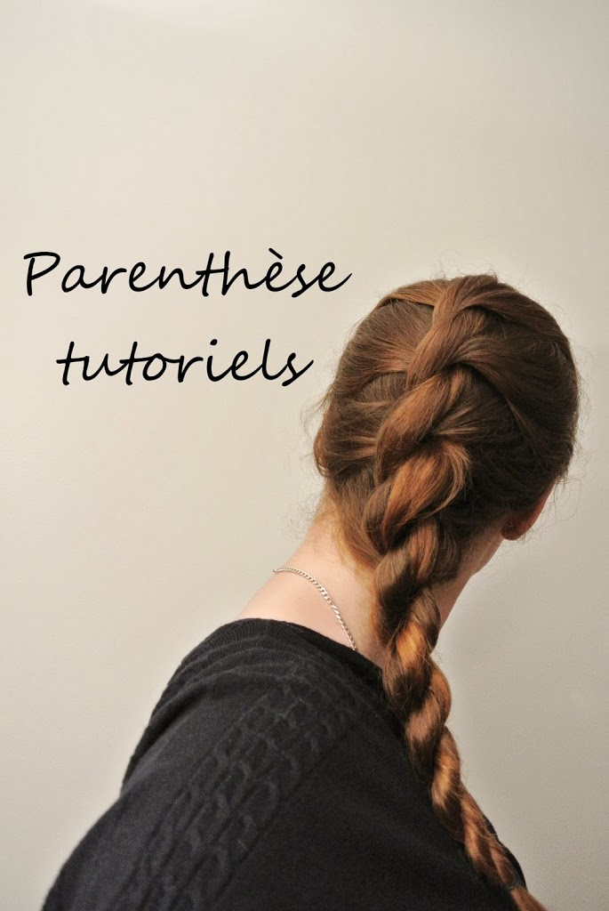 La french rope braid : rope braid plaquée