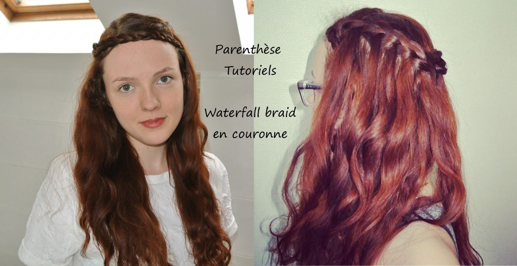 Waterfall braid en couronne